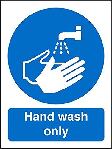 Aimoli Etiqueta De Señalización Impresa Etiqueta De Señalización Profesional Etiqueta De Señales De Seguridad Solo Pegatinas De Seguridad Autoadhesivas Para Lavado A Mano 10 Piezas