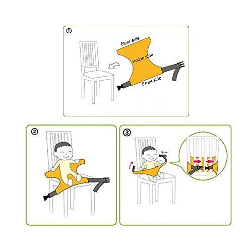 Kiki Goal Baby Cintura di Sicurezza con fibbie | Baby protezione cinghia cintura di sicurezza per bambini sedia Cintura | Può essere verwandet, quando Babys mangiare, giocare | 48× 50cm 20kg carico