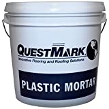 QuestMark 2105 Standard Epoxy Concrete Floor Patch and Resurfacer - 2 Gallon Unit, Dark Gray - Three Component 100% Solids Mortar - Fill and Repair Cracks, Holes, Pits and Spalling
