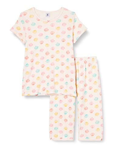Petit Bateau Mädchen 5502901 Schlafanzughose, Mehrfarbig (Fleur/Multico 7u6), 2 Jahre