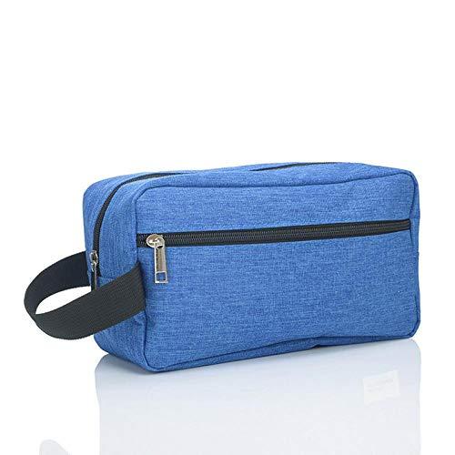 Sac cosmétique femme grande capacité sac à main étanche sac de lavage portable beauté sac cosmétique sac de rangement de voyage pour hommes bleu