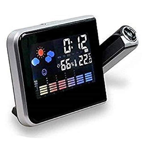 Reloj despertador con pantalla LCD, estación meteorológica y cable ...