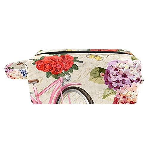 Bolsa de cosméticos para Mujeres Postal Vintage con Bicicleta Bolsas de Maquillaje...