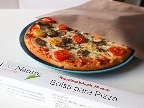 Kit Nature Bolsa para Hornear Pizza - Pack de 1 Bolsa Reutilizable, Lavable, Antiadherente, Libre de PFOA, Evita la Contaminación Cruzada -Tamaño Pizza Mediana 34 x 36 cm