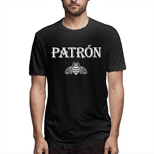 Aidyasd Patron Tequila Logo Mode Persoonlijkheid Klassiek T-Shirt voor Mannen