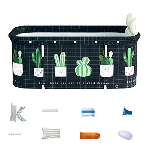 Baignoire portative pliable pour adulte, 120 cm de long, baignoire à vapeur non gonflable autoportante, en plastique épais,