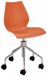 Kartell 2878AA - Silla de Escritorio de Oficina, Color Naranja y Dorado