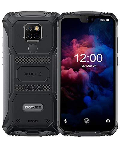 DOOGEE S68 Pro Movil Antigolpes Todoterreno 4G, Helio P70 Octa Core 6GB + 128GB, IP68 Smartphone Libres Antigolpes Android 9.0, 6300mAh, Cámara 21MP+16MP, 5.9 Inch FHD+, NFC Carga Inalámbrica, Negro