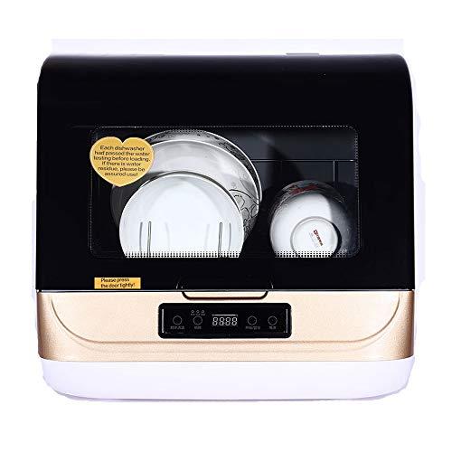 Kacsoo Lave-vaisselle de table, Mini plateau de table pour lave-vaisselle portable, Fruit Wash, Mini table portable pour lave-vaisselle, Mini lave-vaisselle de table de comptoir (Gold)