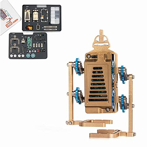 Modelo de motor motor Colección Del Regalo Del Juguete De Desarrollo Ciencia Teching Todo De Metal Motor Stirling Modelo De Bricolaje para el experimento de física ( Color : Gold , Size : One size )