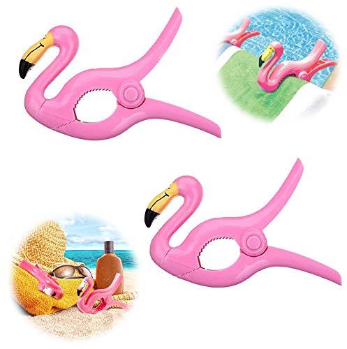 Flamingo Wäscheklammern große Handtuchklemmen Neuheit Sonnenliege Strandtuchklammern schwere Wäsche Kleidung Badetuch Strandtuch Liegebett Liegestuhl für Urlaub Stuhl Schwimmbad