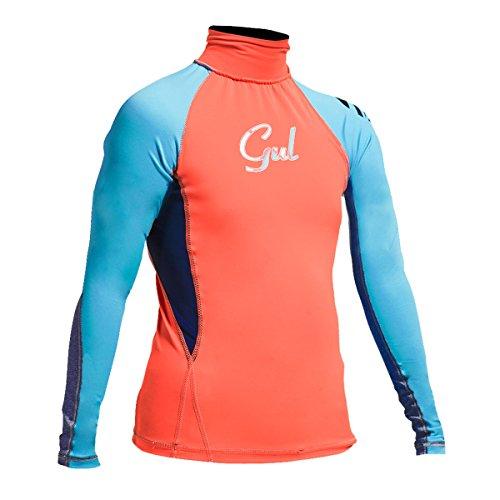 GUL - Junior FL Long Sleeve, Color Naranja,Azul, Talla JM
