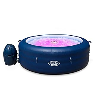 Lay-Z-Spa Saint Tropez Hot Tub with Floating LED Light, AirJet Massage System Inflatable Spa, 4-6 Person - Amazon Exclusive (B07FQP2T51) | Amazon price tracker / tracking, Amazon price history charts, Amazon price watches, Amazon price drop alerts