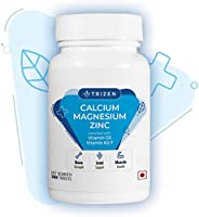 Trizen Calcium Magnesium Zinc | with Alfalfa, Vitamin D3 & K2-7 | Bone Health & Joint Support | 30 Tablets
