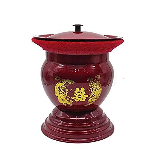 ZSPSHOP roestvrij staal potje / potje wastafel met deksel voor de slaapkamer voor volwassenen ter voorkoming van geur/potten, toilet