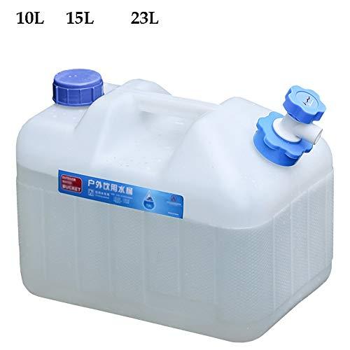 Guoda Wasserkanister  PE-Material In Lebensmittelqualität   Tragbar   Mit Wasserhahn   Verlängerungsrohr   Mehrzweck   Weiß (Size : 10L)