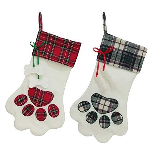 sknonr 45x20cm calcetín Perro Bolsa Colgante de la Pata de Navidad Decoración...