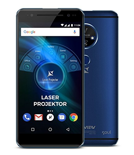 Allview X4 Soul Vision 5.5 Zoll Smartphone mit integriertem Laser BEAMER bis 200 Zoll, Fingerabdrucksensor, 32 GB Flash, Dual-Sim, Android 7.0, 3 GB RAM, OctaCore - WELTNEUHEIT