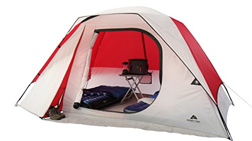 OZARK Trail Family Cabin Tent (White/Red, 6 Person)