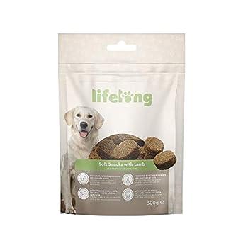 Marque Amazon - Lifelong - Friandises pour chiens, riches in protéines, avec agneau (8 pack x 300gr)