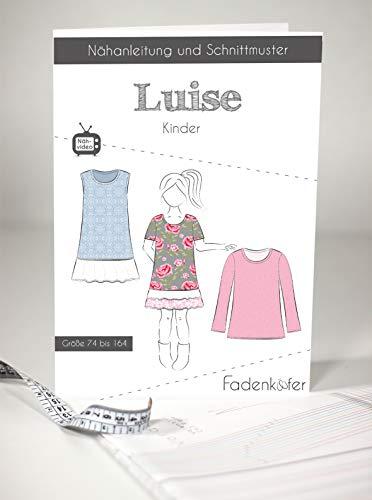 Schnittmuster und Nähanleitung - Kinder Tunika Kleid Oberteil - Luise