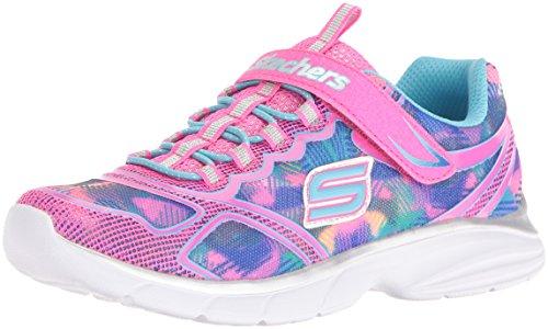 Skechers Kids Girls' Spirit Sprintz Sneaker,Neon Pink/Multi,3 M US Little Kid