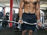 EMRAH Correas de levantamiento de pesas | Soporte acolchado para muñeca, bueno para levantamiento de potencia, fitness, gimnasio, culturismo, entrenamiento, levantamiento de peso muerto (gris)