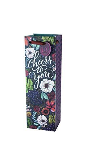 Cakewalk 4345Marketplace Vineyard Blumenstrauß Wein Geschenk Tasche, multicolor