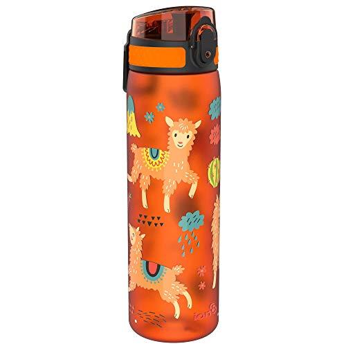 ion8 Auslaufsichere Schlanke Trinkflasche, BPA-frei, 600ml, Lamas