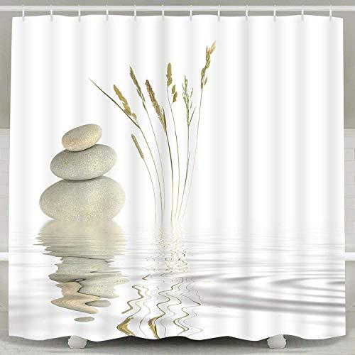 Ciujoy Duschvorhang 180x180cm, Duschvorhang Anti-Schimmel Duschvorhäng Wasserabweisend Shower Curtains Waschbar Anti-Bakteriell Duschvorhänge aus Polyester Badvorhang mit 12 Duschvorhängeringen (H)