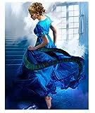 ZYHSB Rompecabezas 1000 Piezas De Madera Imagen De Montaje Vestido Azul Cartel De Bailarina Juegos para Adultos Juguetes Educativos Py115Cd