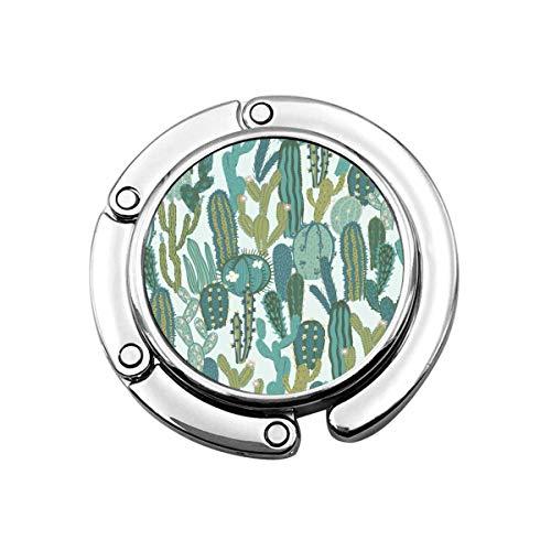 Monedero Gancho Dibujos Animados Lindo Divertido Cactus Bolso Percha Portátil Monedero Contador Mujeres