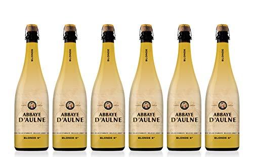 2. Abbaye D'Aulne Ambrée – Cerveza belga  (pack de 6 botellas) de 750 ml con 6% de alcohol