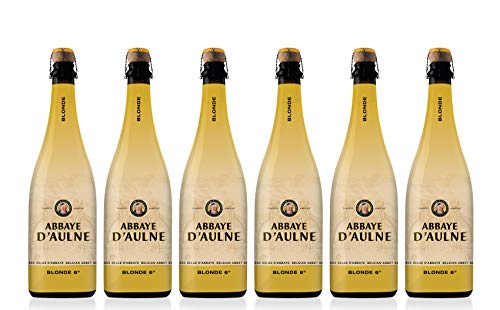 Abbaye D'Aulne - Cerveza de Abadia Belga Blonde - Pack de 6 Botellas de 75 cl