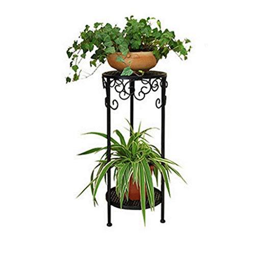 ZHANGYY Soportes para Plantas Soporte para Plantas de Interior Esquina Moderno y Simple Soporte para Flores Arte de Hierro Multicapa Balcón Sala de Estar Aterrizaje Soporte para Flores INT