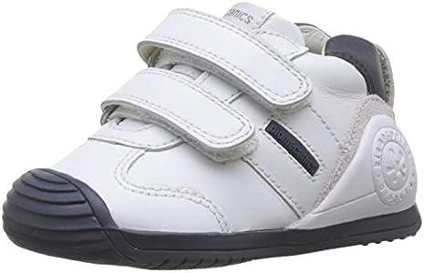 Biomecanics 151157-1, Zapatillas de Estar por casa Unisex niños, Blanco (Blanco Y Azul (Sauvage) F), 21 EU