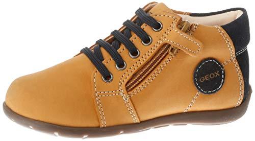 Geox Baby Jungen B Kaytan C Sneaker, Beige (Biscuit/Navy C5bf4), 25 EU