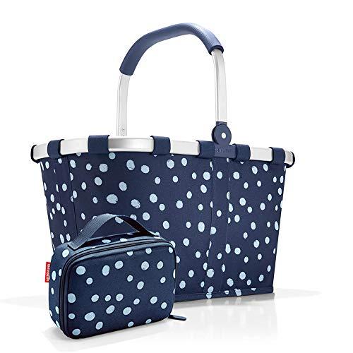 Set carrybag BK, thermocase OY, SBKOY Einkaufskorb mit Kleiner Kühltasche, Spots Navy (4044)