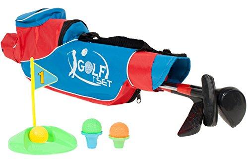 Premium Golfset XXL für Kinder (Golfball Golfschläger Golftasche Fahne UVM.) Golf Spiel Kinderspiel Lernspiel Familienspiel - Geschicklichkeitsspiel mit hohem Spaßfaktor wie Kroko doc