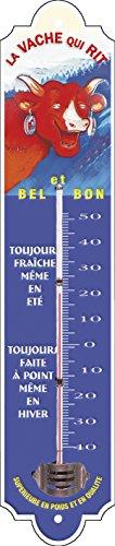 French Classics 57047 Vache Qui Rit Thermomètre Petit Modèle, Métal, Rouge, 30x6x1 cm