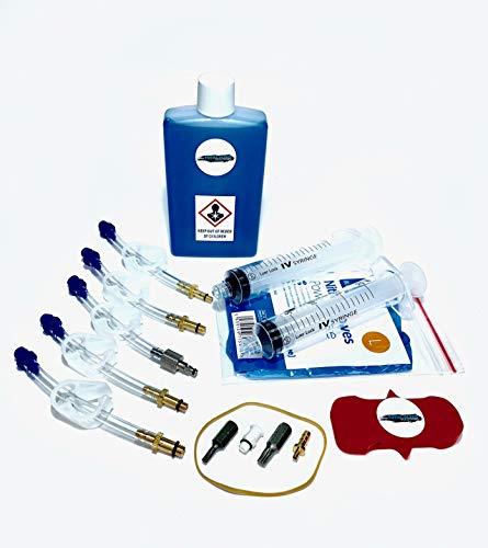 Total Bleed Solutions TBS Universal Kit de Purge de Frein hydraulique pour VTT avec Huile minérale Magura Royal Blood