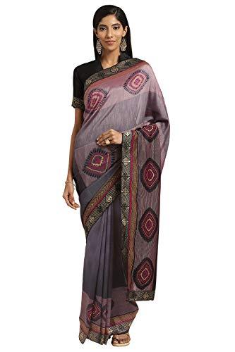Mirchi Fashion Designer Bollywood Sari für Damen Gr. Einheitsgröße, Grau, mehrfarbig