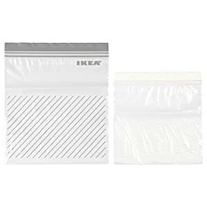 Can be used over and over again since it can be re-sealed. Comprises: 25 bags 2.5 l (24 x 26.5 cm) and 25 bags 1.2 l (20.5 x 20.5 cm). Freezer-safe. Withstands temperatures up to 50°C. Polyethylene plastic Made from plastic which contains at least 85...