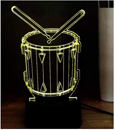 3D Illusion Nachtlicht BoysNew 3D Illusion Elektronische Lichter Trommeln Verschiedene Instrumente Moderne Gesangsausstattung LED Nachtlicht USB Remote Tischlampe Dekoration Kinder Geschenke