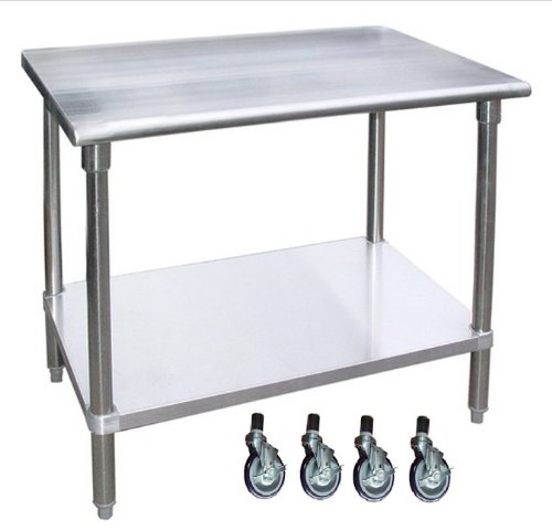 """24"""" X 30"""" Stainless Steel Work Table with Wheels 