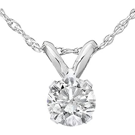 Silvercartvila 14K Gold Plated 0.24 Carat Round Cut White Sim Diamond Circle Pendant Necklace W// 18 Chain