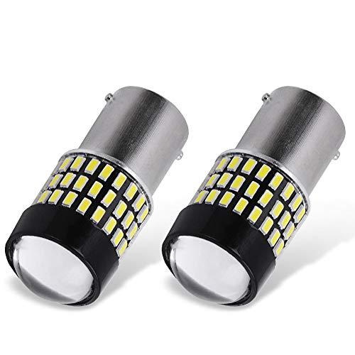 YITAMOTOR 2x 1156 P21W BA15S LED White Light Bulbs, 78-SMD Super Bright, 1141 1003 7506 LED Replacement Bulb for RV Reverse Backup Tail Light, 6500K White, 12v-24v