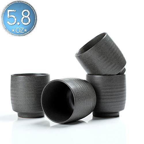 TEANAGOO TC03, Keramik China Teetasse Für TP03, 175 ml, Junware, Grau, 4 Stück/Box