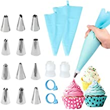 Decorating Tips for Frosting Tips and Bags 18pcs Piping Bags and Tips Set Pastry Tips Pastry Bags Reusable With Tips Cake Decorating Tips for Frosting Icing Decorating Tips Icing Piping Nozzles