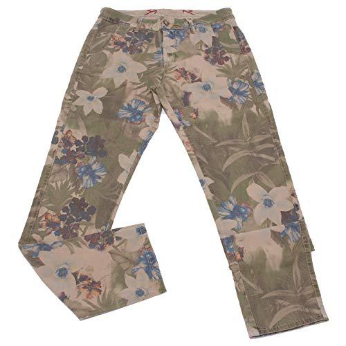 Carlo Chionna 5014X Pantalone Uomo 9.2 Beige Vintage Cotton Trouser Man [32]